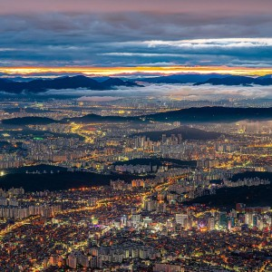 韓國首都首爾夜景圖片