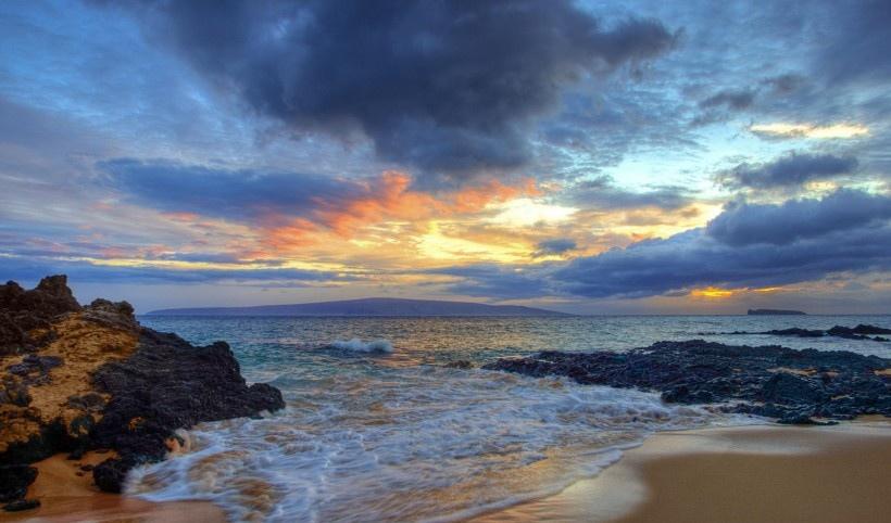 唯美海岸线风景写真