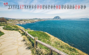 2020年6月济州岛秀美景观日历壁纸