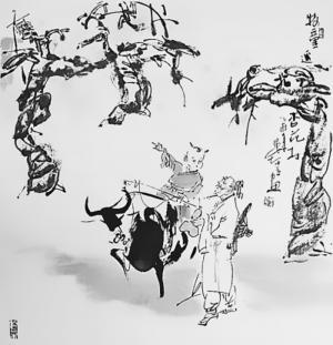 清明节杏花村背景图片