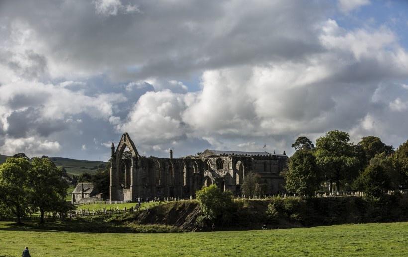 英格兰博尔顿修道院风景写真图片
