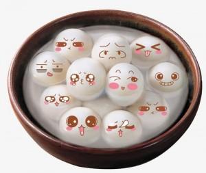 元宵节彩汤圆桌面壁纸