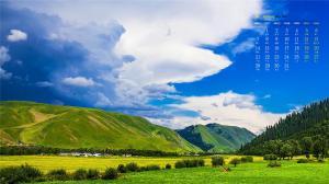 2019年1月新疆帕米尔高原日历壁纸