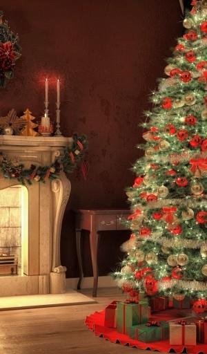 圣诞节室内浪漫装饰