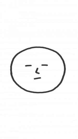 简约手绘搞怪表情高清手机壁纸