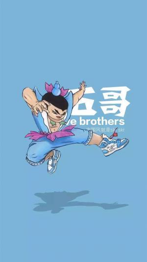 七个葫芦兄弟创意卡通高清手机壁纸
