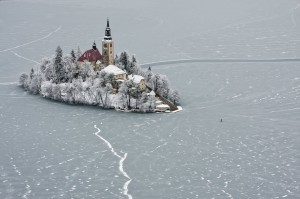 斯洛文尼亚的布莱德湖