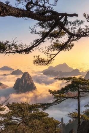 黄山唯美风景图片