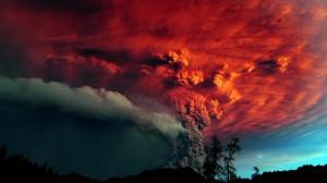 火山爆发超梦幻图片