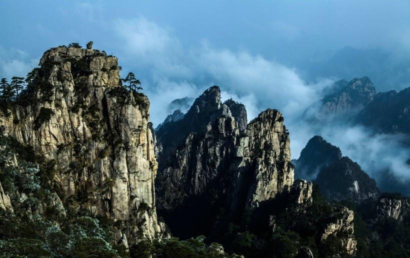 安徽黄山云海风景图片