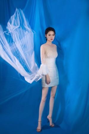 李沁纱裙超美仙气写真图片