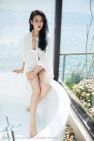 叶佳颐《大理旅拍》真空白衬衫+睡衣诱惑 [推女神/尤蜜荟]