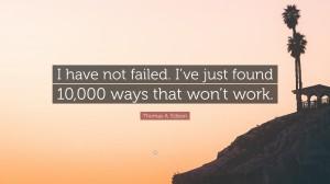 伟大发明家爱迪生的励志名言