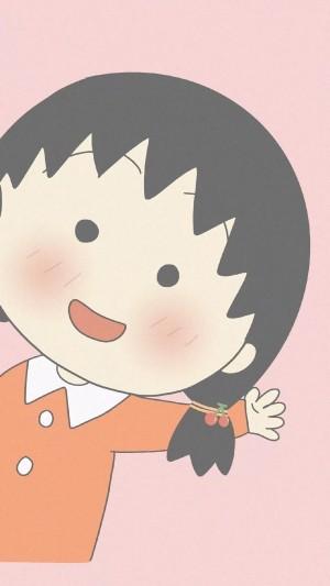 粉色蜡笔小新少女心卡通手机壁纸