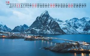 2020年7月挪威唯美风光图片日历壁纸