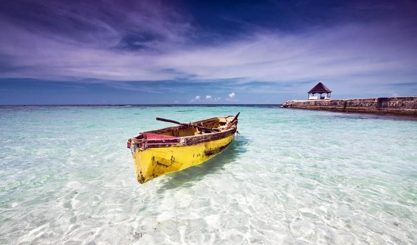 美丽的加勒比海岸线风景