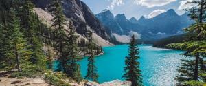 加拿大班夫冰碛湖