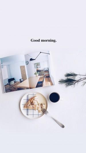 简约清新早安英文图片壁纸
