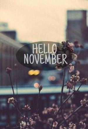 十一月你好英文文字图片