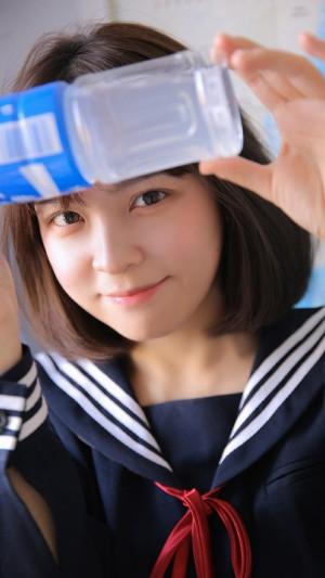 日本校服美少女清纯可爱活泼高清手机壁纸