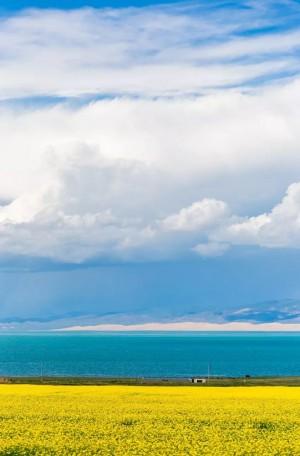 青海湖清新唯美风景图片