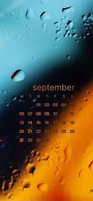 2021年9月创意设计高清日历手机壁纸