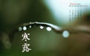 2019年9月二十四节气之寒露高清日历壁纸