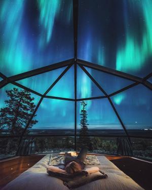 芬兰的Levin Iglut – Golden Crown酒店