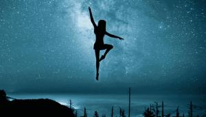 夜空中的拉丁舞者
