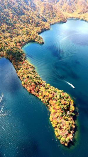自然风景图片湖光秋色