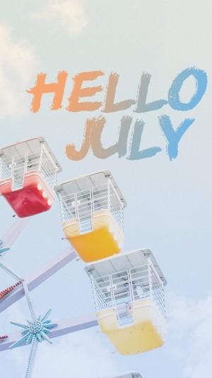 七月多彩的摩天轮