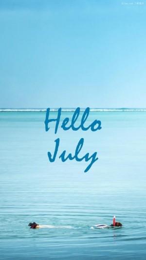 七月你好去潜水吧