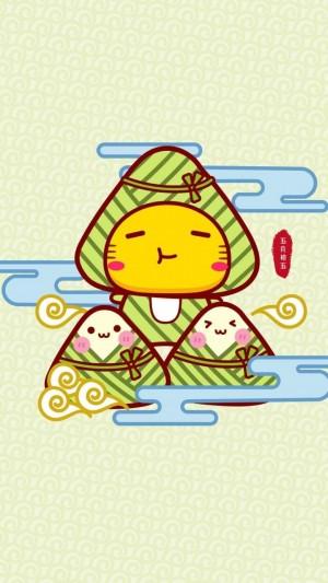 可爱的哈咪猫欢庆端午节