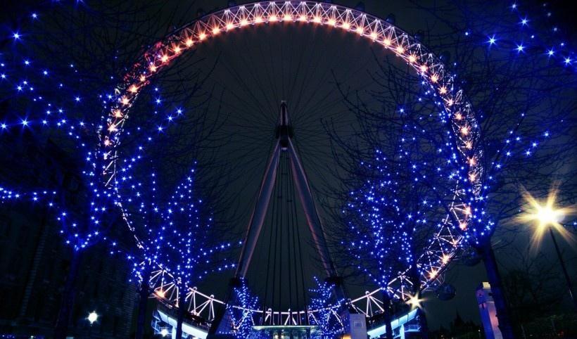 城市唯美燈光風景圖片