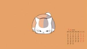 2019年7月卡通猫咪高清日历壁纸