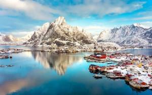 挪威罗弗敦群岛美妙风景桌面壁纸