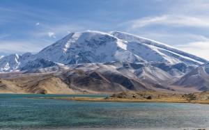 新疆慕士塔格峰壮丽高清桌面壁纸