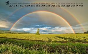 2020年8月完美彩虹风景日历壁纸