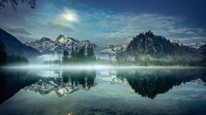 水中倒影迷人自然风光写真