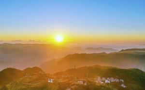 清晨绝美日出风景桌面壁纸