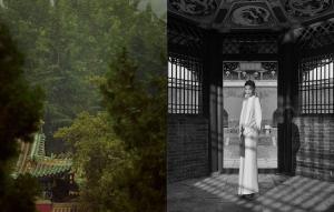 维密超模何穗精致大背头眼神笃定少林寺写真图片