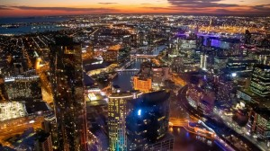 璀璨墨尔本夜景图片