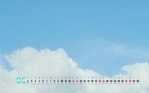 2020年6月清新淡雅自然风景日历图片