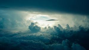天空 云 阳光 黑暗 4K风景壁纸