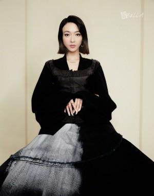 吴谨言黑裙优雅精致魅力氛围舞者大片