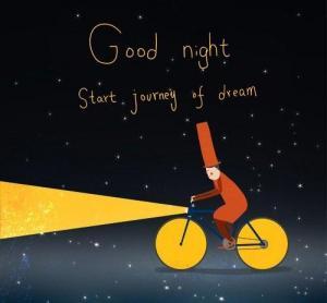晚安心语卡通插画