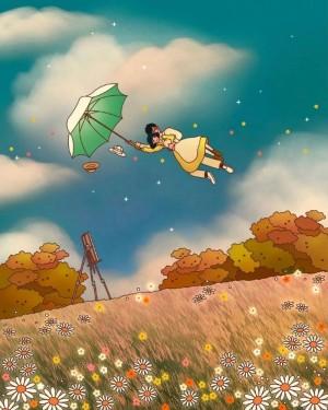 宫崎骏唯美动漫场景手绘图片