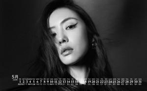 2020年5月蔡文静优雅魅力写真日历壁纸