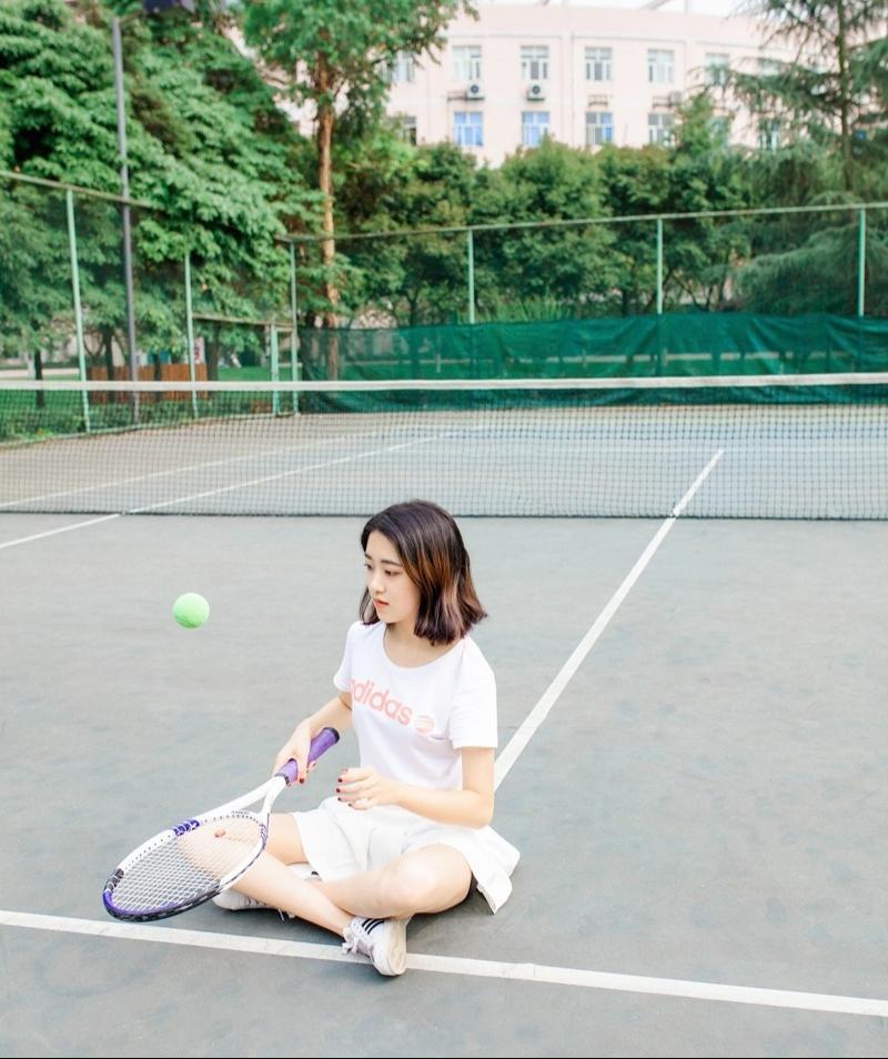 清新网球性感妹子活力四射青春无敌