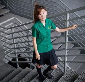 纯真李思嫺的楼梯风采写真